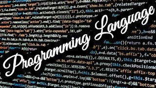 Part-1 : Programming Language
