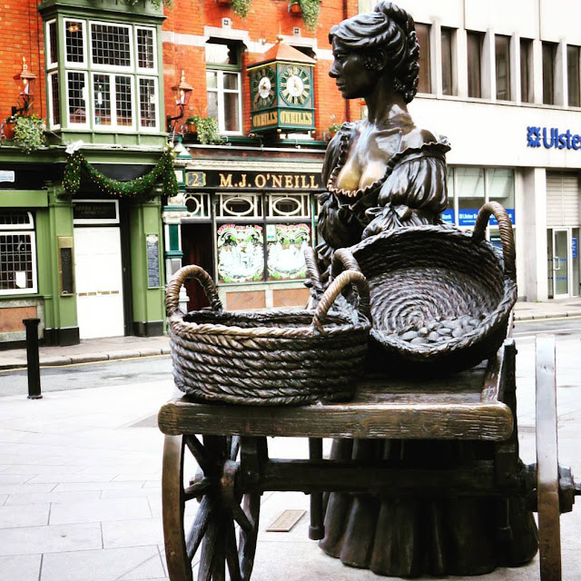 One day in Dublin City: Molly Malone Statue