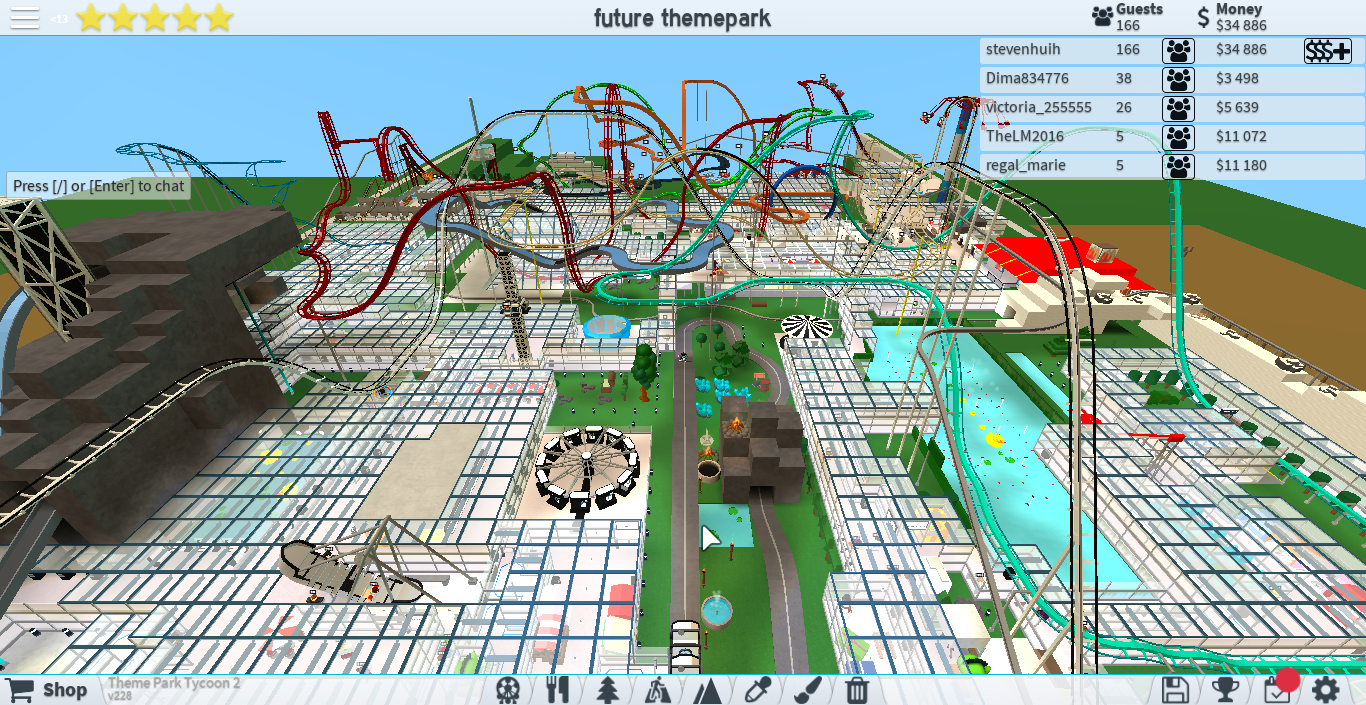 How To Make The Best Amusement Park Theme Park Tycoon 2 In Roblox 3 The Adventures Of Stevenhuih Phantom Forces And Theme Park Tycoon 2