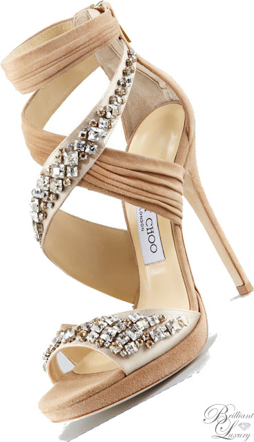Brilliant Luxury ♦ Jimmy Choo Nude Kani Crisscross Platform Sandal