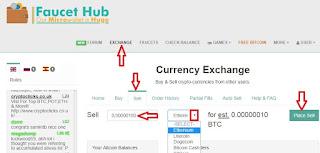 Пошаговые действия обмена альткоинов на биткоин