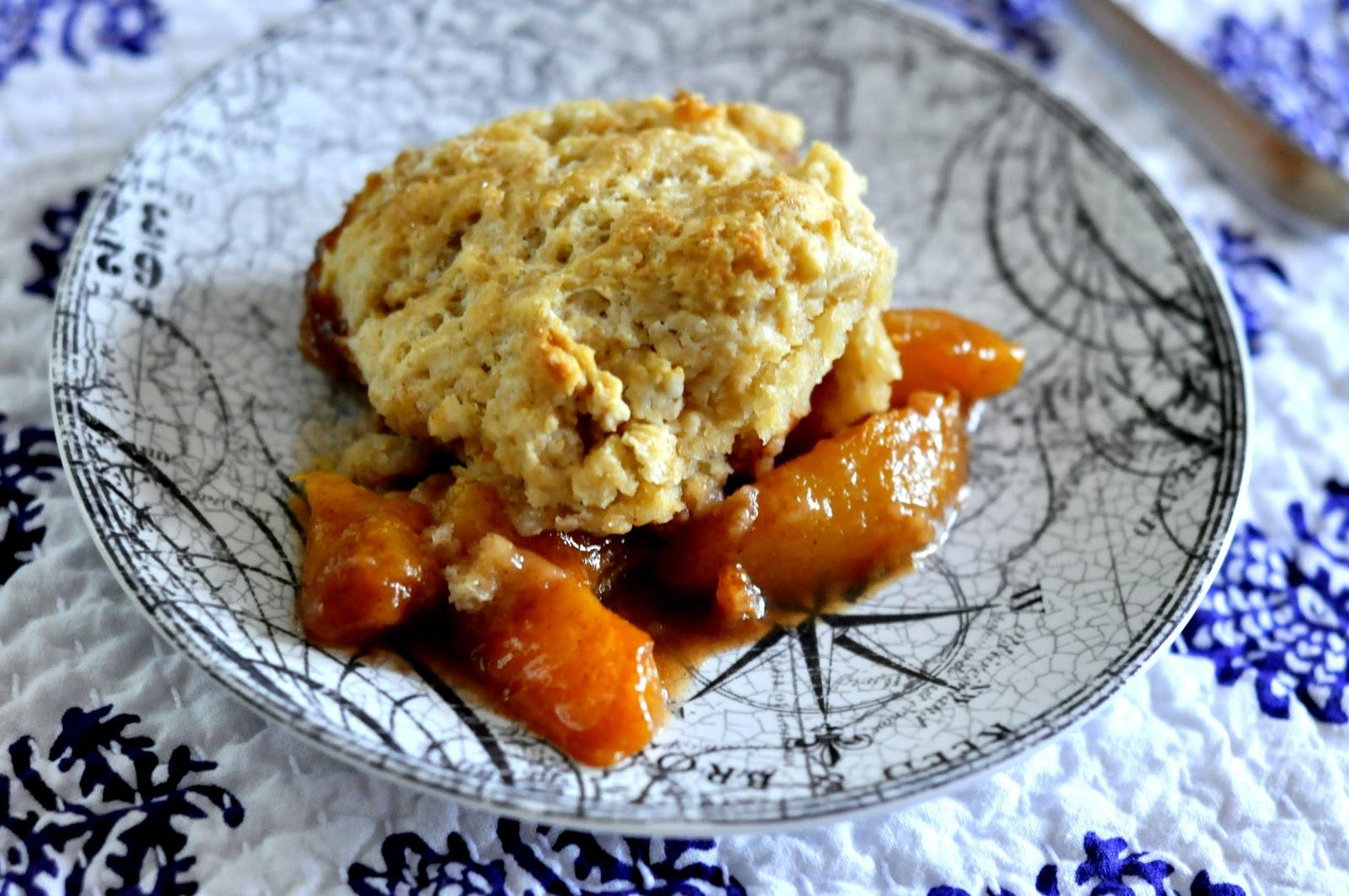 Easy Peach Cobbler   Recipe on Taste As You Go