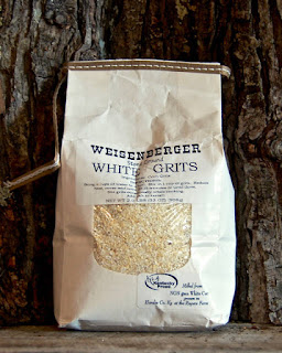 bag of weisengerger white grits, which is what we use to make our cheese grits