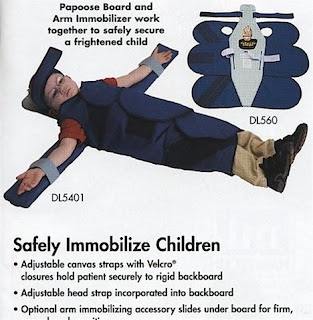 childrens immobiliser straitjacket crucifix position