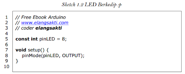 Sketch LED berkedip
