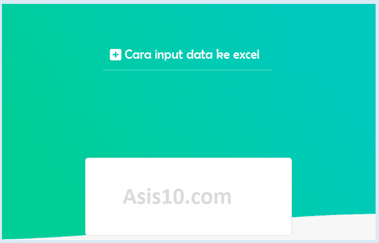 Cara import data menggunakan excel macro