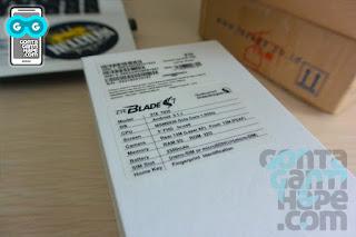 ZTE Blade S7 - Info di Balik Kotak kemasan
