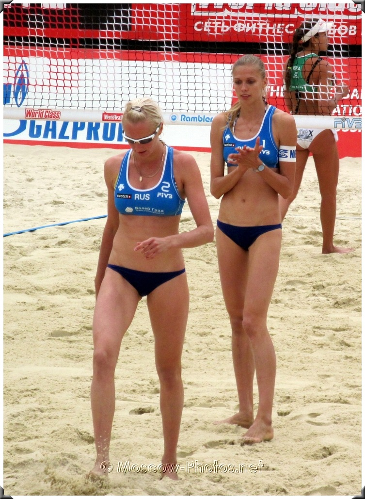 Beach Volleyball Russian Team at SWATCH World Tour