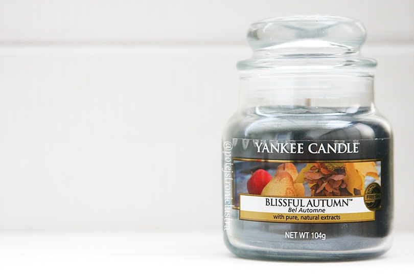 mała świeca yankee candle blissful autumn
