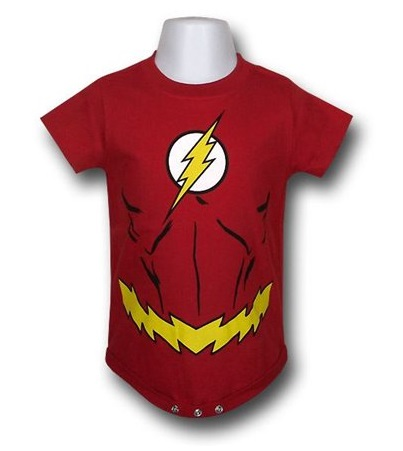 "30 Gifts for ""The Flash"" Lover in Your Life Dc Comics the flash baby onesie"