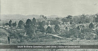 View over the South Brisbane Cemetery, c.1880 (State Library of Qld)