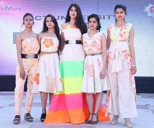 Students showcasing their collection during FABCT Launch