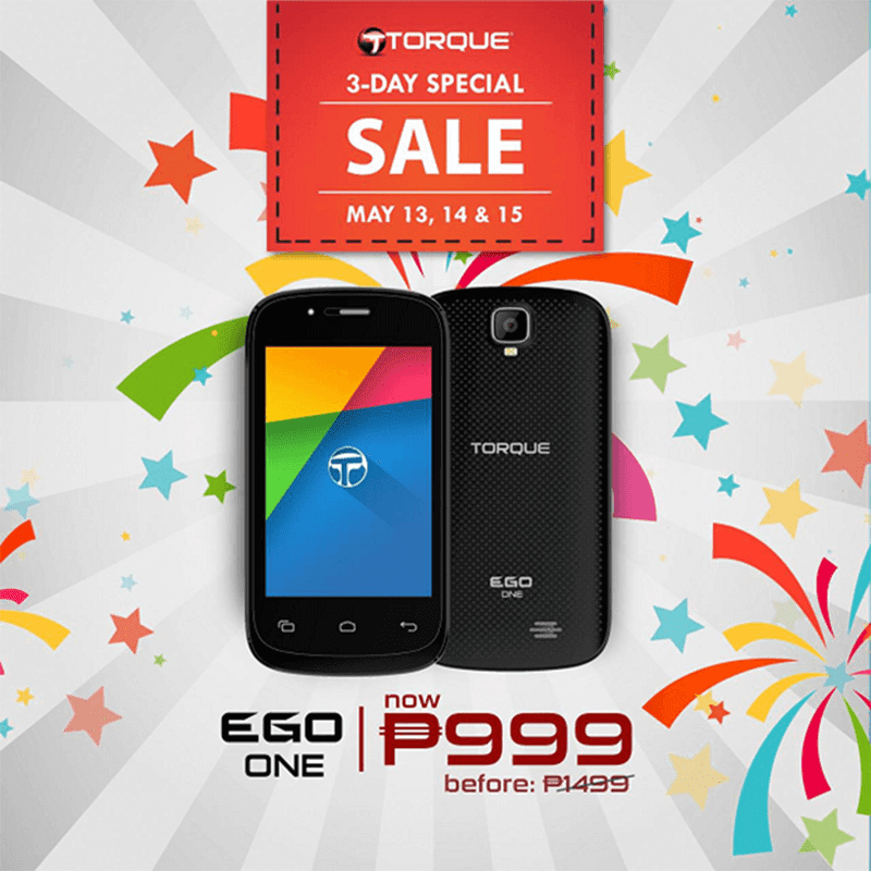 Torque EGO One on sale at 999 Pesos