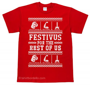 T-Shirt Bordello's Ugly Festivus Tee