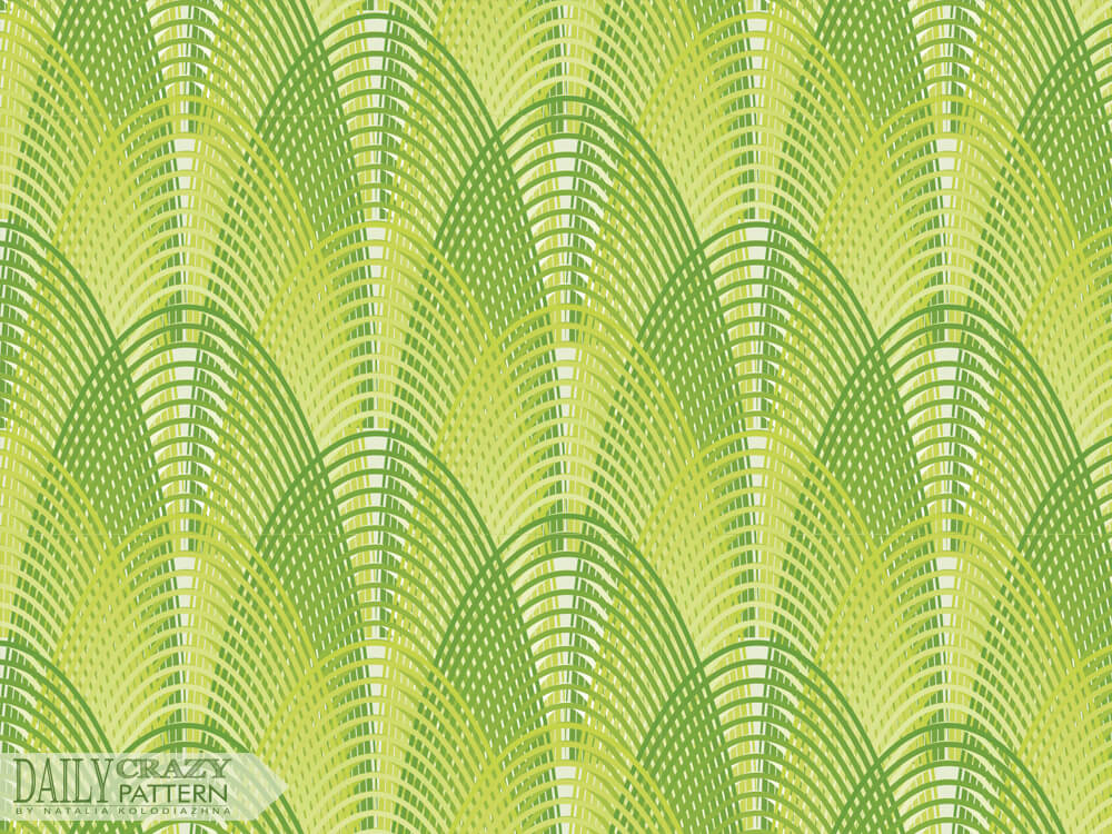 Green pattern with curves