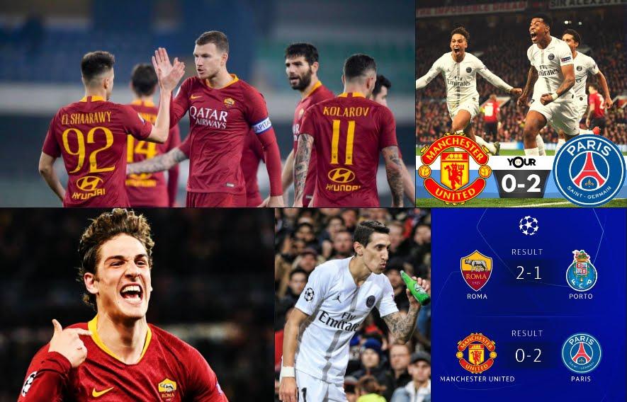 Champions: La Roma si gioca tutto in Portogallo, il PSG di Buffon umilia lo United.