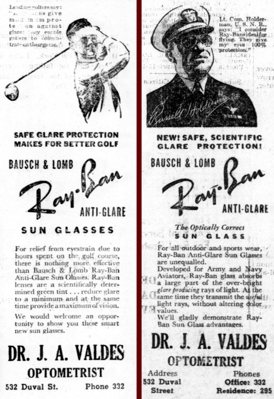 Ray-Ban newspaper ad 1940, April 06-13