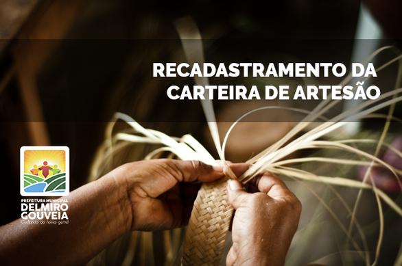Em Delmiro Gouveia, Secretaria de Turismo convoca artesãos delmirenses para recadastramento da carteira