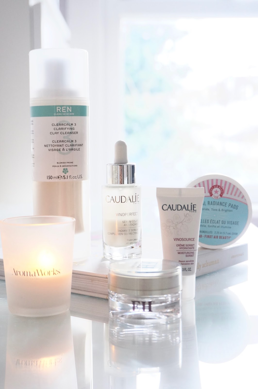 Evening skincare routine for combination skin