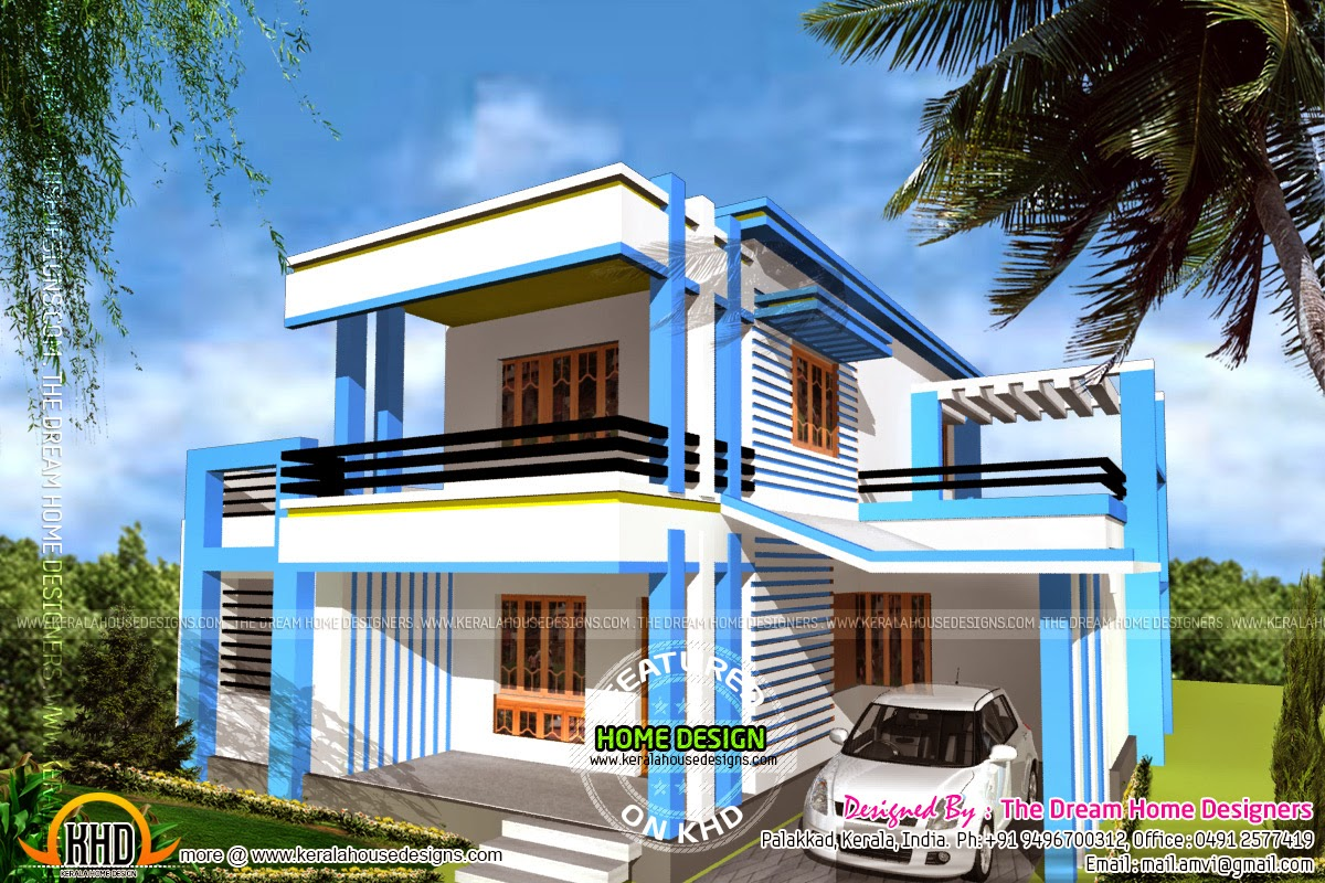 Fine News And Article Online 1250 Sq Feet House Elevation And Plan Inspirational Interior Design Netriciaus
