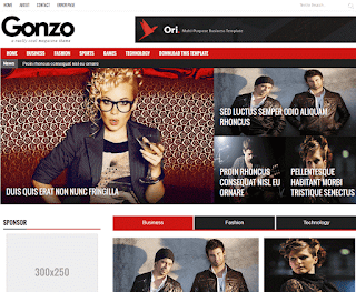 Gonzo Responsive Blogger Template