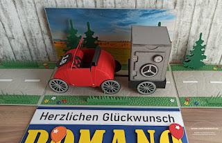 Geschenkbox Explosionsbox Überraschungsbox Auto Tresor Bankkonto