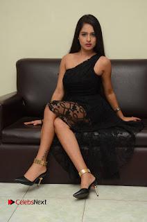 Telugu Cinema Actress Malvi Malra Pictures in Black Dress  0140.JPG