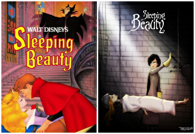 Illustrator Andrew Tarusov redesigns  Disney's classic movie character Sleeping Beauty  into Tim Burton's dark gothic style via geniushowto.blogspot.com Illustrations 10