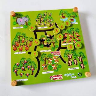 Mainan Anak Maze Hewan 2 in 1