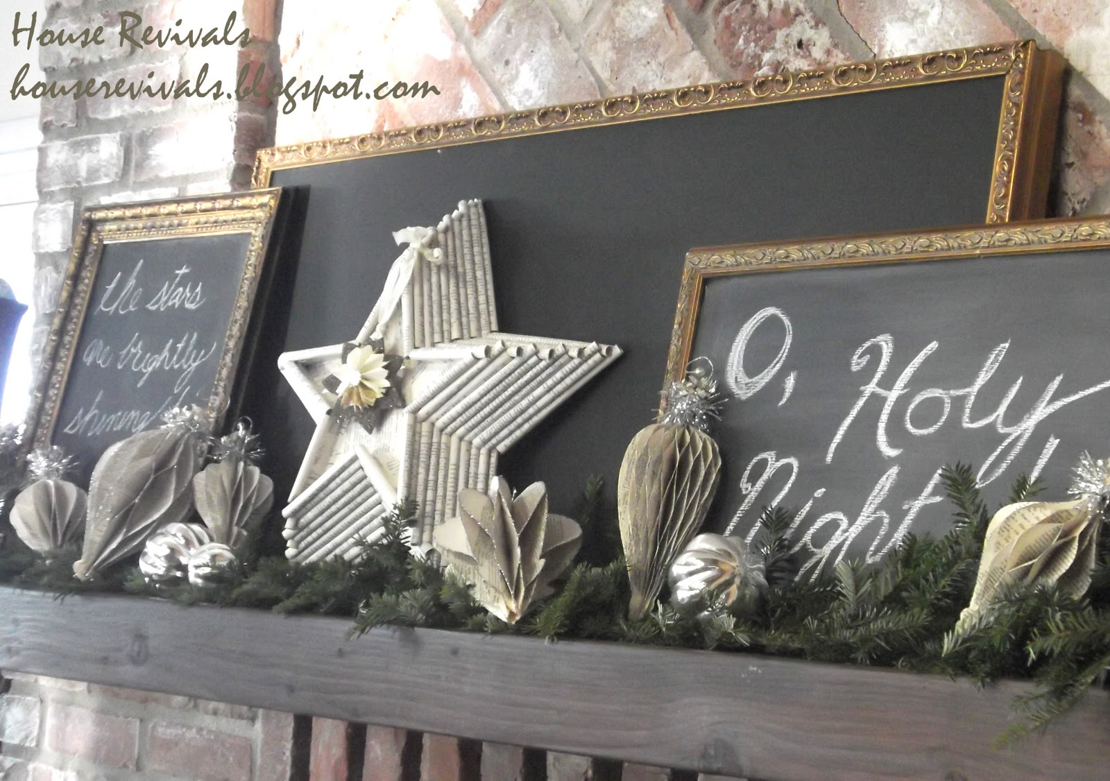 christmas mantel and beach house tour 2011