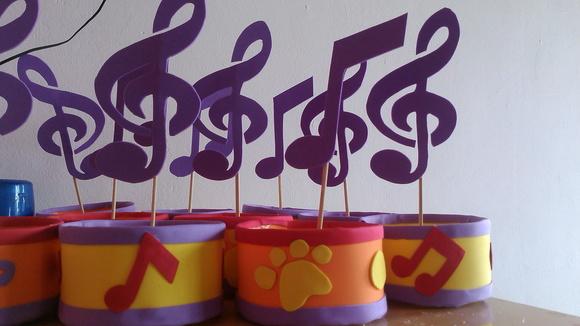 Centro de mesa música