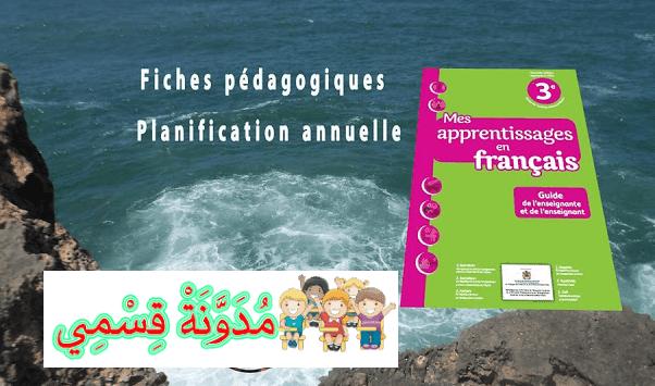 planification annuelle + Fiches pédagogiques du livret Mes apprentissages 3aep