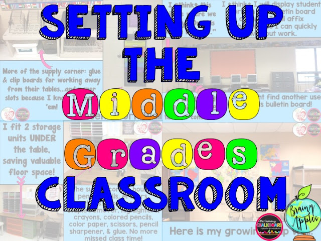 Primary chalkboard middle grades classroom set up and for Idea door primary 2015