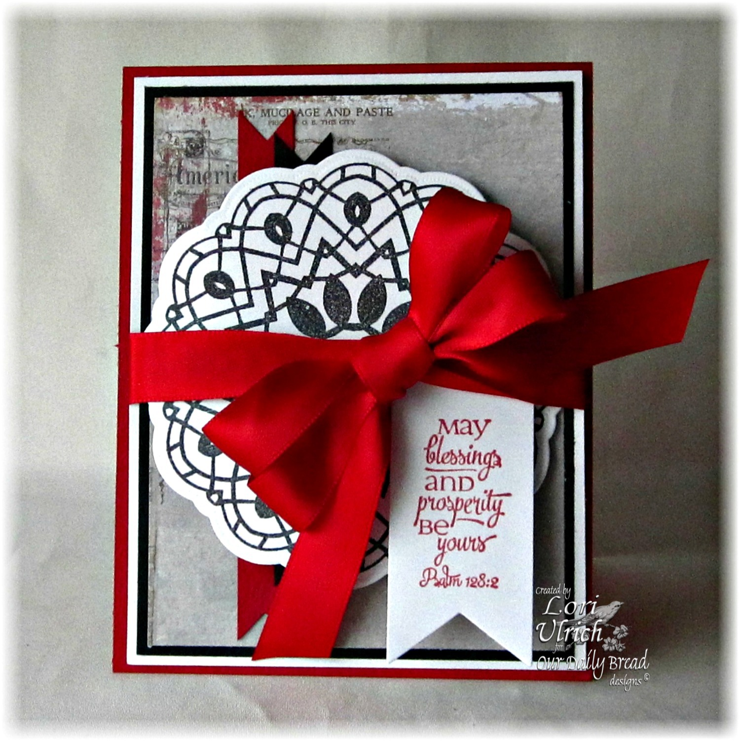 Stamps - Our Daily Bread Designs Doily Blessings, Birthday Doily, ODBD Custom Doily Dies, ODBD Custom Pennants Die
