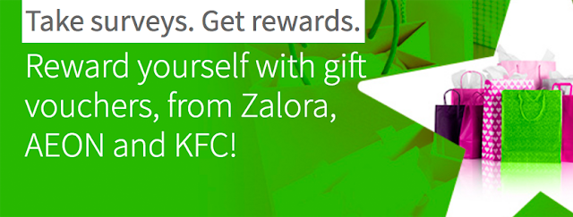 Reward yourself with gift vouchers, from Zalora, AEON and KFC!