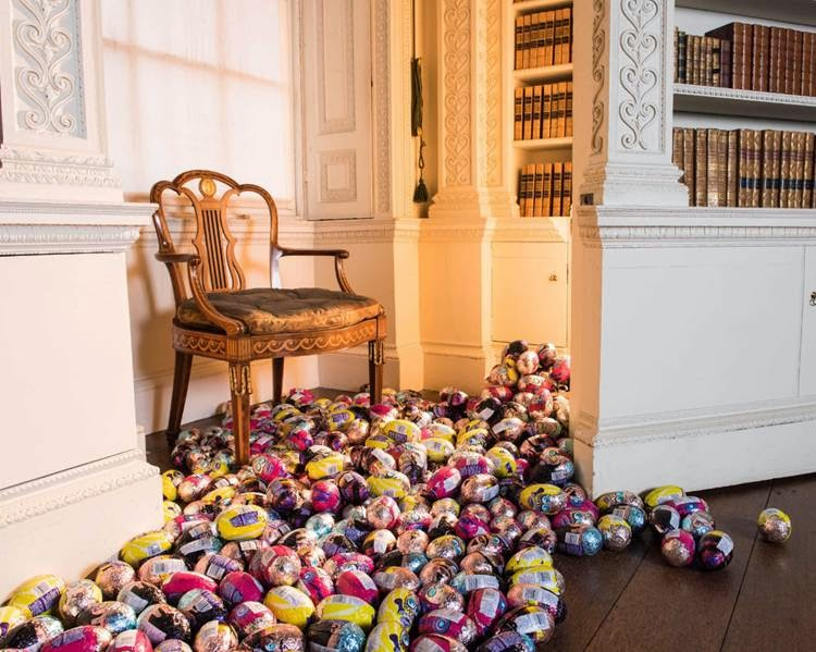 Easter Eggs in Stately Home Library