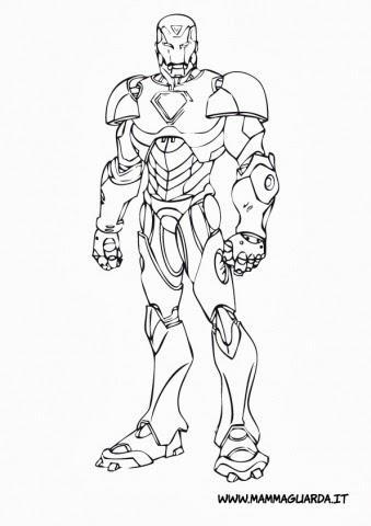 Disegni da colorare iron man for Iron man da colorare per bambini