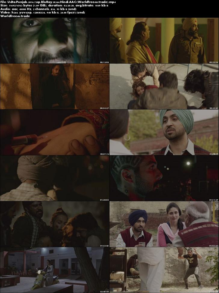 Screen Shoot of Udta Punjab 2016 Full Hindi Movie Download BRRip 720p 1gb