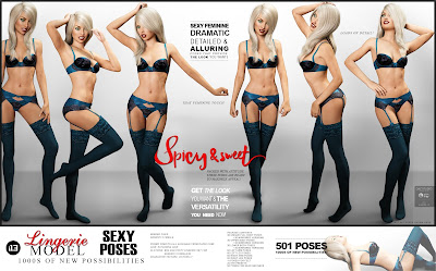 i13 Lingerie Model Pose Collection for the Genesis 3 Female