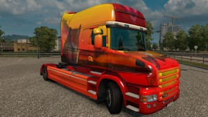 Ice Wolf Skin for Scania T