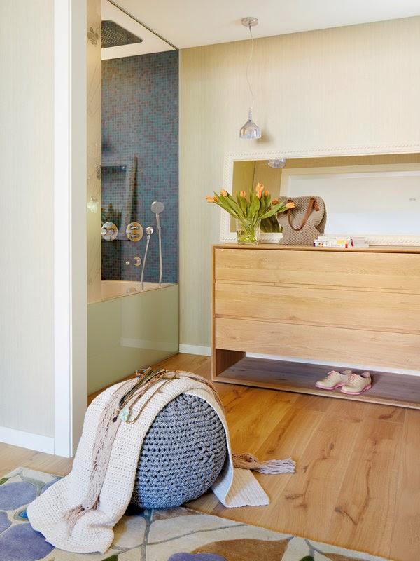 Pequeno Apartamento Decorado em tons de azul, estampas e marcenaria linda. Blog Achados de Decoração