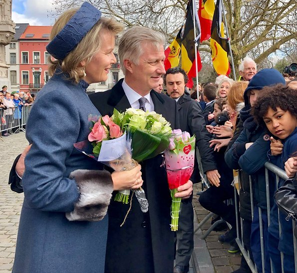 King Philippe, Queen Mathilde, King Albert, Queen Paola, Prince Laurent, Princess Marie-Esméralda, Princess Léa and Princess Margaretha
