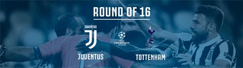 Juventus vs Tottenham Hotspurs Babak 16 besar Liga Champions