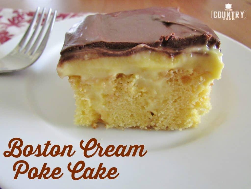 BOSTON CREAM POKE CAKE #cake #dessert