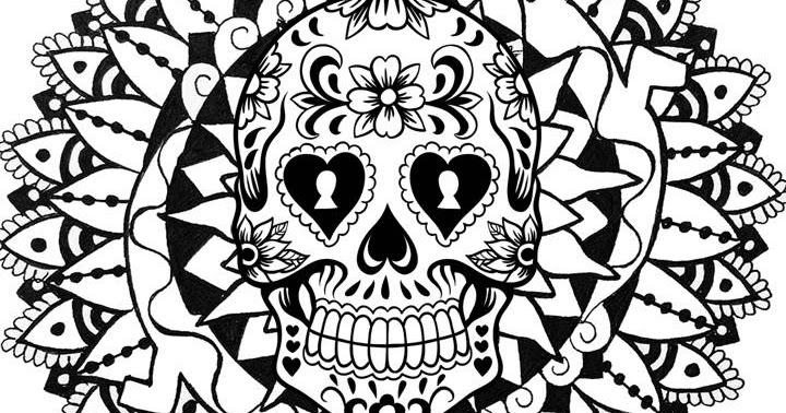 Pinto Dibujos: Mandala De Calavera Para Colorear