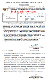 Jalandhar District Court Result