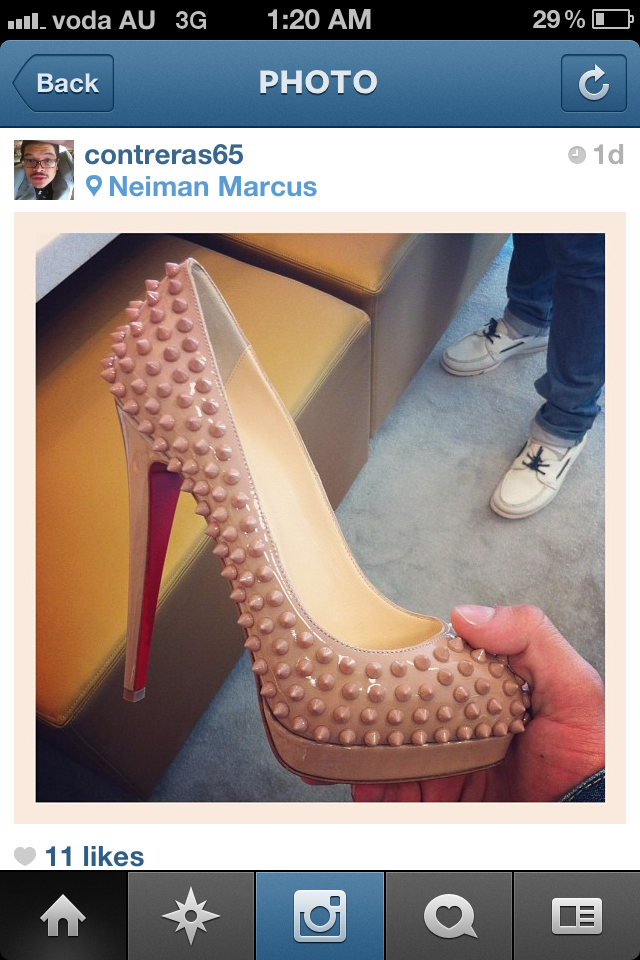 7260245d022 Christian Louboutin Fall Winter 2012 Bloody Red Rollerboy Spikes ...