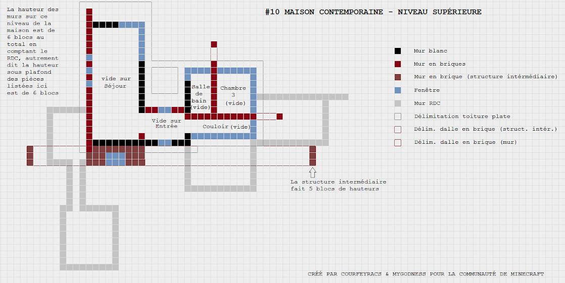 Top Plan d'une maison contemporaine | Minecraft-Constructor NQ69