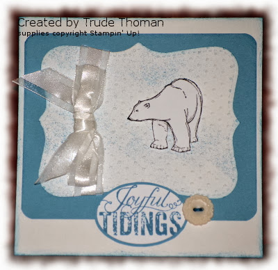 Zoo Review, Christmas Messages, Christmas card, Stamp with Trude, Stampin' Up!, bear