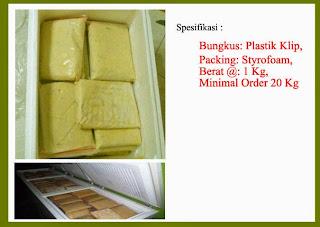 Daging Durian Beku, Oleh-oleh khas Medas